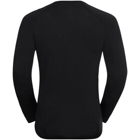 Odlo Concord T-Shirt L/S Crew Neck Men, black/mountain Print